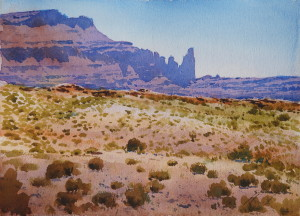 "Arches National Park I (watercolor 2015, 11"" X 15"")"